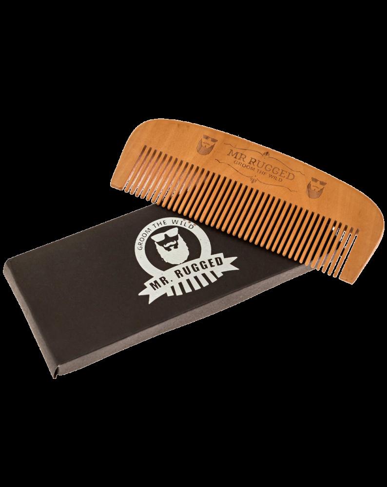 Mr Rugged Wooden Beard Comb