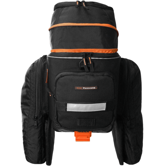 Bicycle Bag with Expandable Mini Panniers