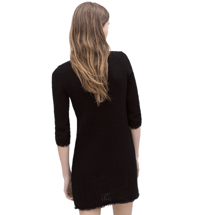 Fringed Textured Dress