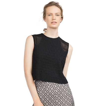 Jacquard Pattern Top