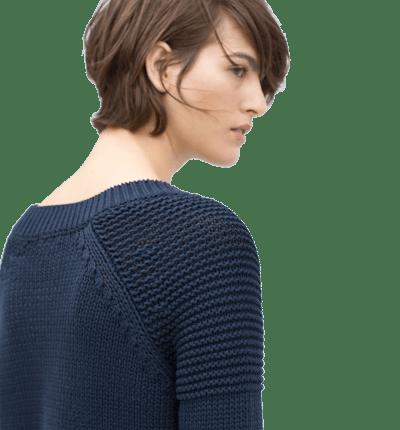 Lace-Up V-Neck Sweater