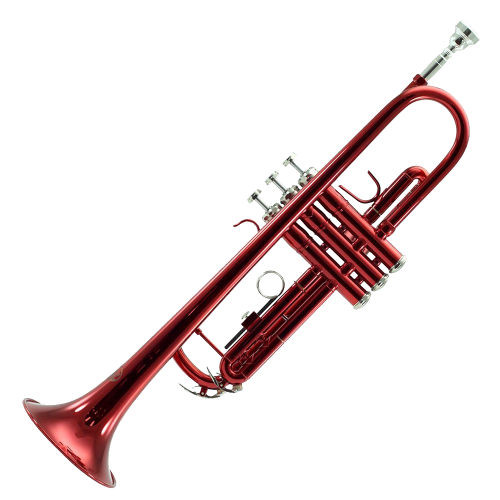 Sky Band Approved Wine Red Lacquer Brass Bb Trumpet with Case