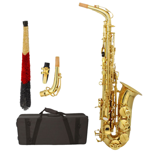 Professional Alto Eb Saxophone sax with Mouthpiece Reed Case