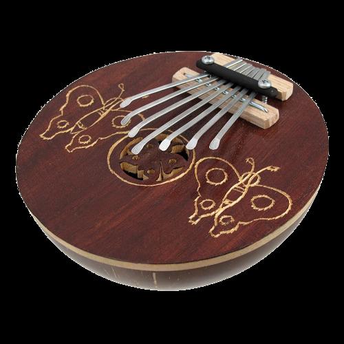 Hand Carved Coconut Karimba Mbira Thumb Piano