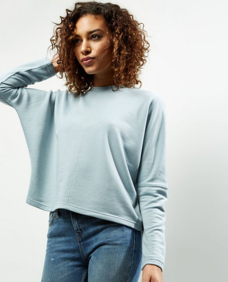 Batwing Sleeve Cropped Sweater