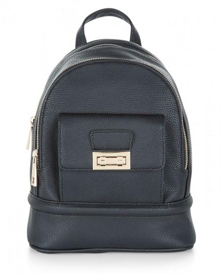 Leather Look Mini Backpack