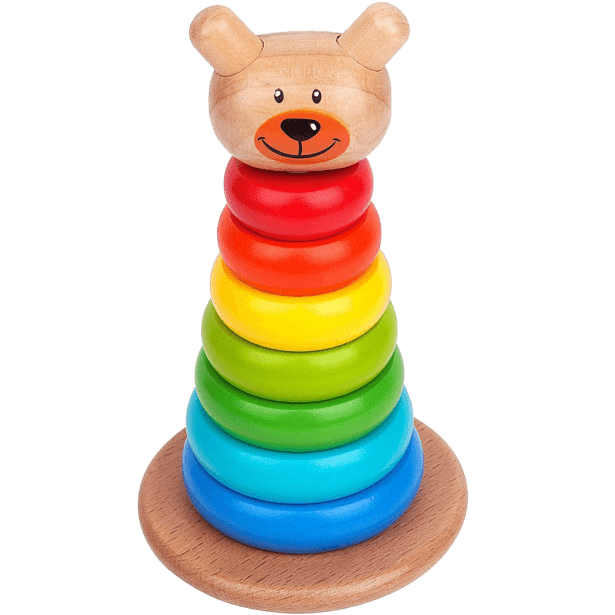 Rainbow Ring Wooden Stacker Toddler