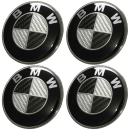 Black-Silver Carbon Fiber Style Emblem