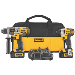 Hammer Drill and Impact Driver Combo Kit